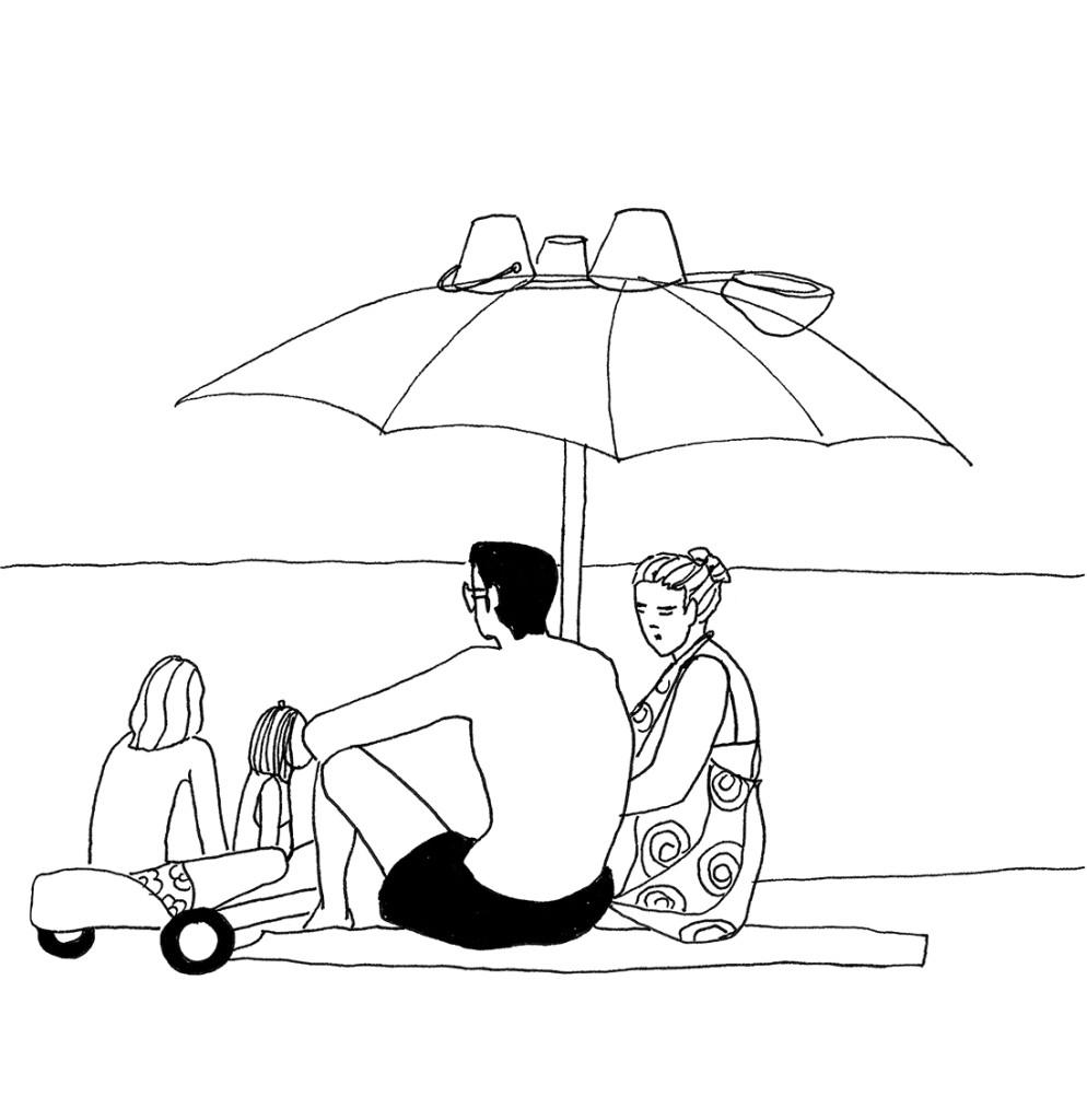 Schizzi-Lungomare-La felicità inafferrabile