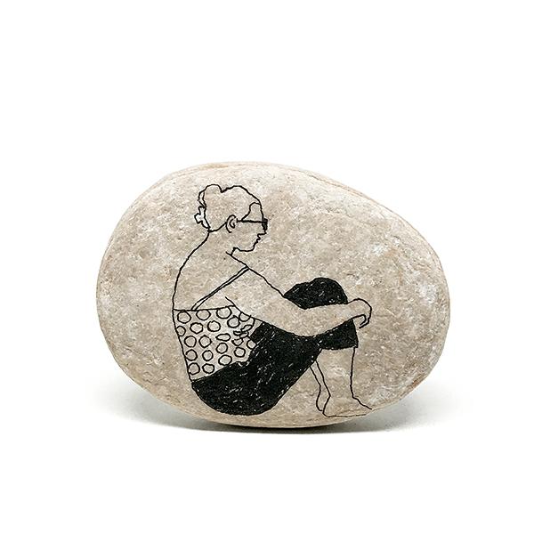 Schizzi-Oggetti-I sassi dell'isola di Tasso - sasso 7
