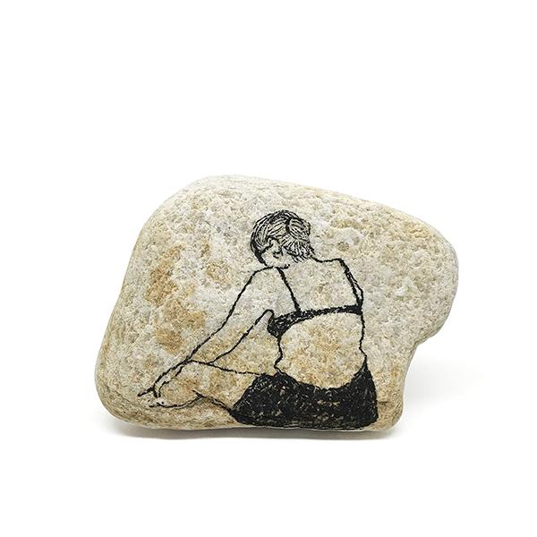 Schizzi-Oggetti-I sassi dell'isola di Tasso - sasso 8