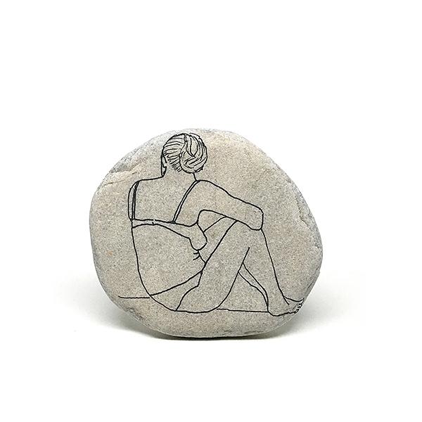 Schizzi-Oggetti-I sassi dell'isola di Tasso - sasso 11
