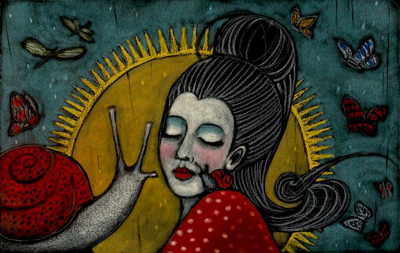 Illustrazioni-Piccolo e oscuro scrigno-La lumaca