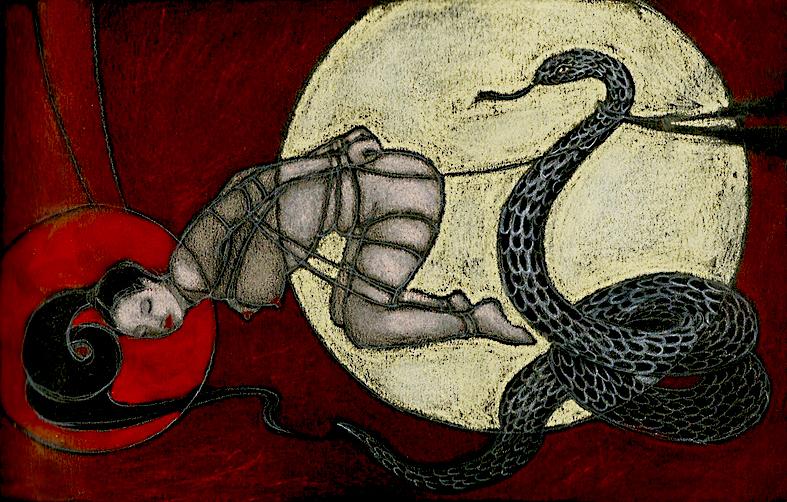 Illustrazioni-Piccolo e oscuro scrigno-Il serpente