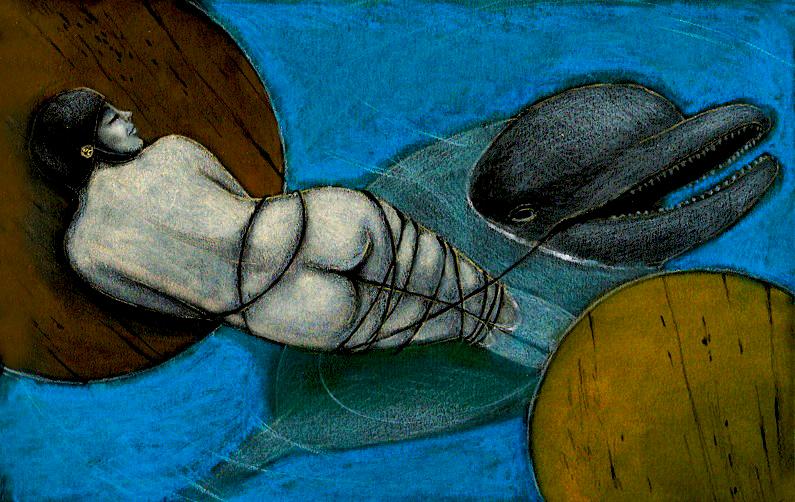 Illustrazioni-Piccolo e oscuro scrigno-Il delfino
