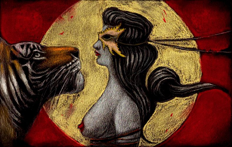Illustrazioni-Piccolo e oscuro scrigno-La tigre