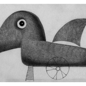Illustrazioni-Animali automatici-Uccello Omerico