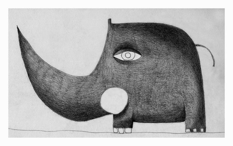 Illustrazioni-Animali automatici-Elefante a punta