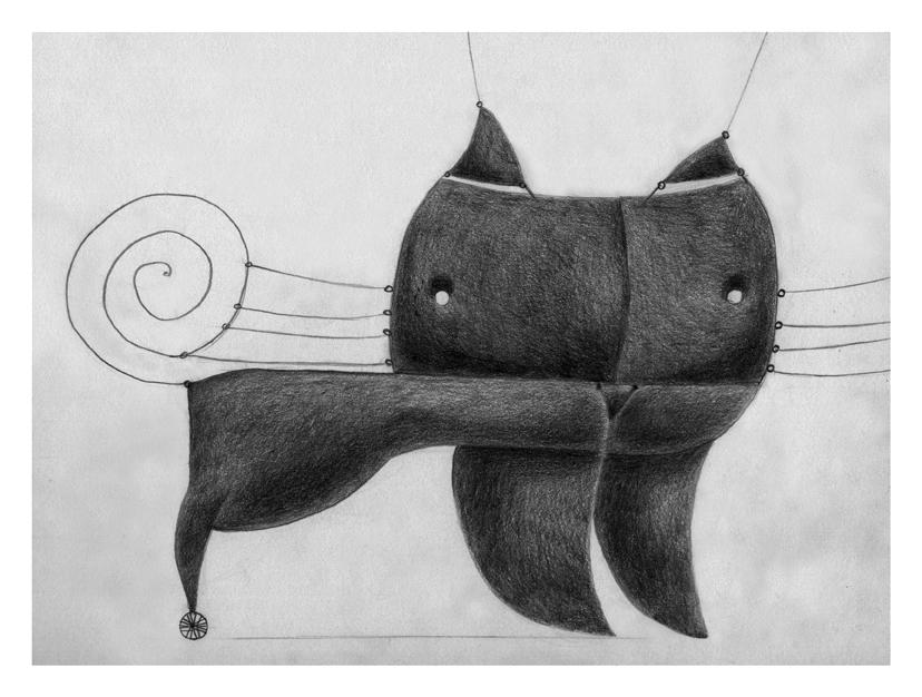 Illustrazioni-Animali automatici-Gatto a filo