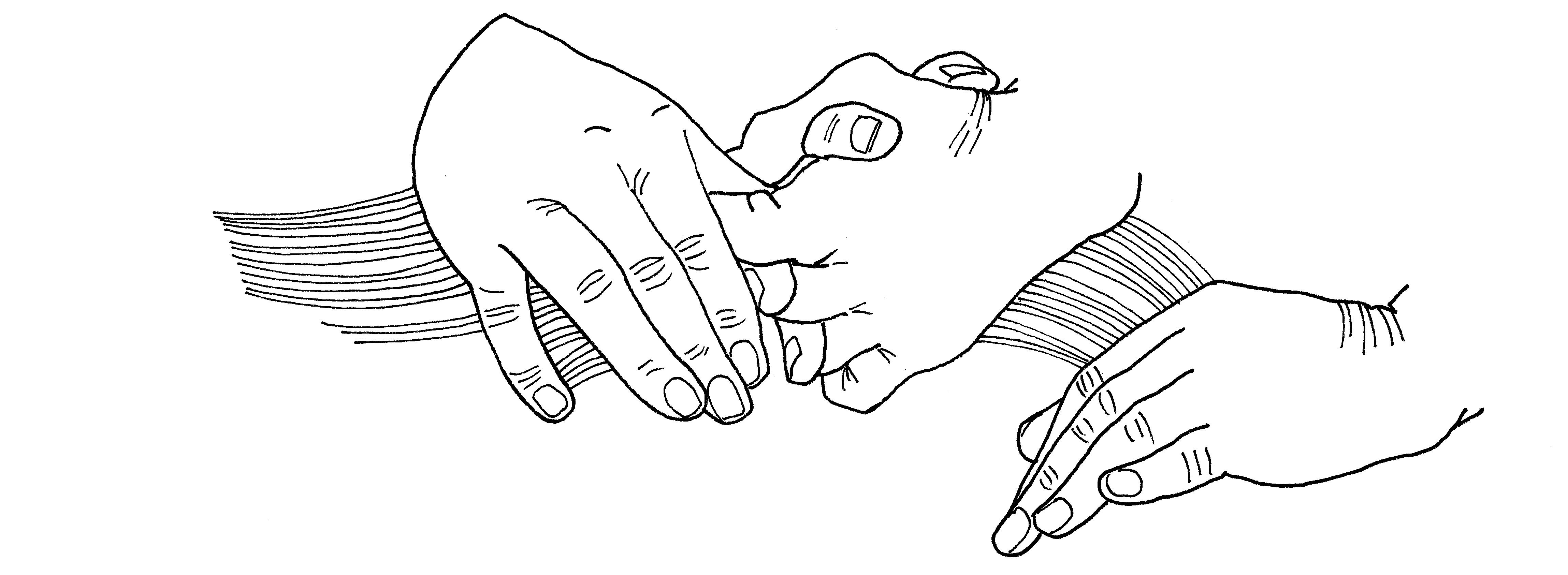 Illustrazioni-Una brevissima storia d'amore-Mani